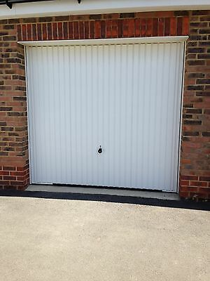 Up And Over Fully Retractable White Garage Door Excellent Condition