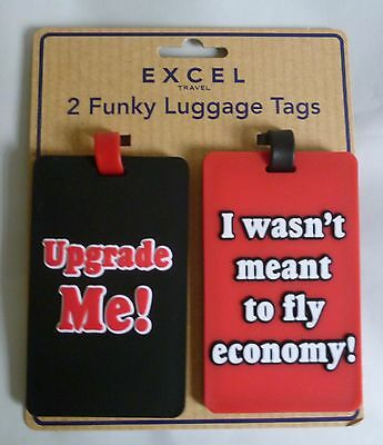 Funky Luggage Tags for Suitcase Travel Luggage Bag - 2Pack Z-TECH