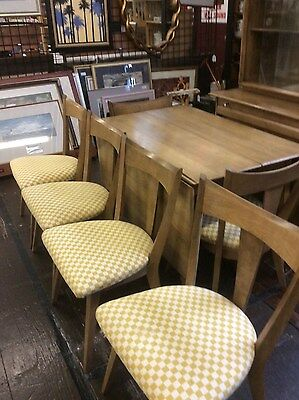 Heywood 8pc Dining Room Set Sable Drop Leaf Table 6 Chairs China Cabinet