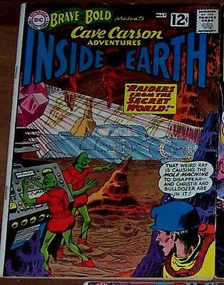 Brave & The Bold #41 (Fn-) Cave Carson! Adventures Inside Earth! 1962 Dc Lqqk