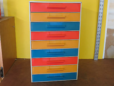 Vintage Akro Mils Stac-A-Drawer Stationary Forms Organizer Small Parts 9 Drawer