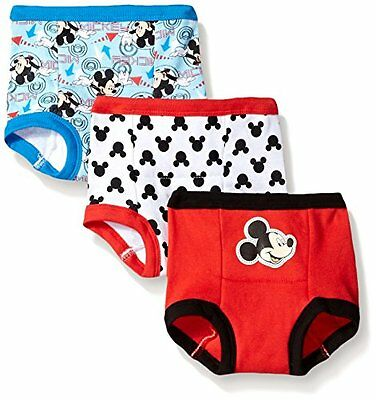 Disney Little Boys' Toddler Mickey 3 Pack Training Pant, Assorted, 2T