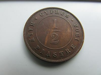 Cyprus 1908 Half Piastre coin - Limited Mintage and Rare to find