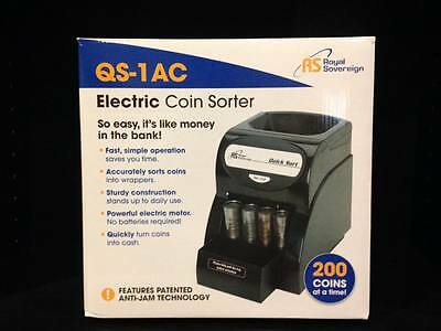 Royal Soverign Coin Machine Sorting Electric QS-1AC