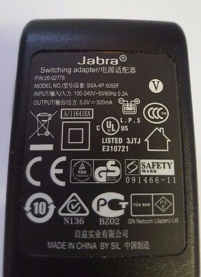 Jabra Charger Switching Adapter for Bluetooth Headset Handsfree UK 3Pin Z-TECH