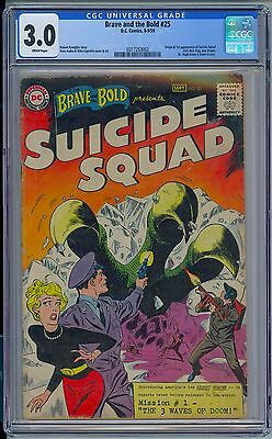 BRAVE AND THE BOLD #25 - CGC 3.0 GD/VG 1st SUICIDE SQUAD 1959