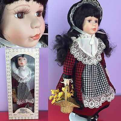 "The Leonardo Collection Porcelain Doll Megan 16""-17"" In Box"