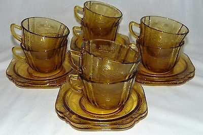 8 Federal MADRID* 76 RECOLLECTION* AMBER* CUPS & SAUCERS*