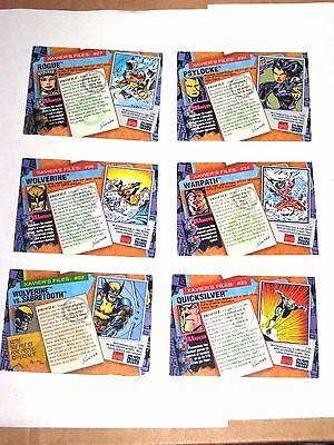 1993 Marvel X-Men Series 2 Chase Insert Parallel Toy Biz 6 Card Lot! Wolverine!
