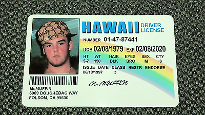 McLovin ID Card from Movie Superbad Customize (YOUR IMAGE + ALL INFO)  Mc Lovin