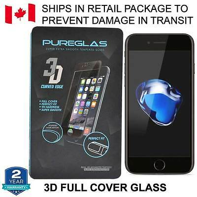 3D Curved Full Cover Tempered Glass Screen Protector for iPhone 7 Plus + Package