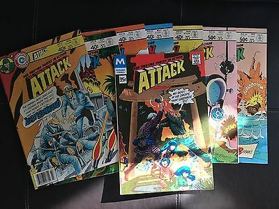 Attack (1978, Modern and Charlton) Lot of 8 issues #13, #16 #18, #21 to #24,#26
