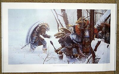 1987 TSR Dragonlance What Do You Mean We're Lost Parkinson Signed #'d Art Print
