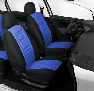 2 Blue Front High Quality Car Seat Covers Protectors For Vauxhall Antara