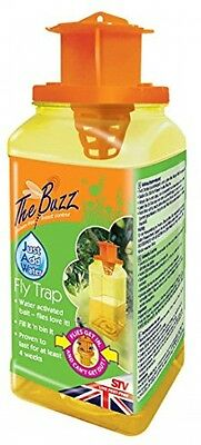 The Buzz Jaw Fly Trap (Super Effective, Disposable Insect Attractant, Suitable