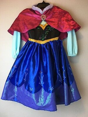 Disney Frozen Anna Costume With Cape Used 3t Play Condition