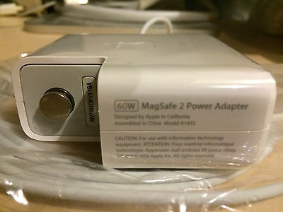60w Genuine Original Apple MacBook Air MagSafe 2 AC Power Supply Charger Adapter