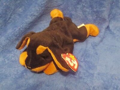 Ty Beanie Baby Doby the Doberman 1996 5th Generation Hang Tag PVC Filled