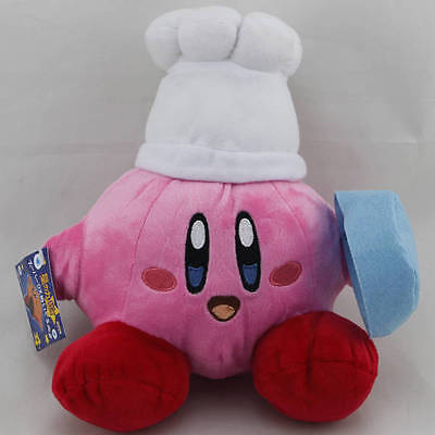 """Kirby Rainbow curse Chef Cook 8"""" Stuffed Animal Triple Deluxe Popopo Soft Gift"""