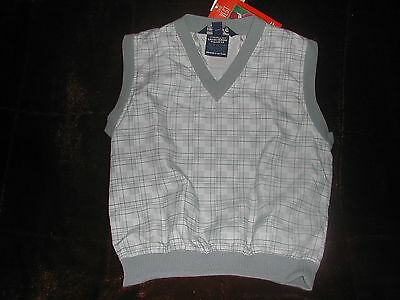 New Sunderland Of Scotland Ladies Golf Small Blue/gray #4207 Pullover Vest
