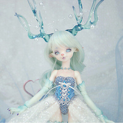 1/6 bjd doll dolls deer doll with horn ,tail and high heel feet without make up