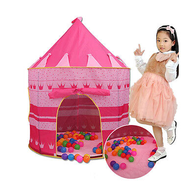 Girl Pop Up Play Tent Toddler Kids Playhouse Castle Foldable Portable Indoor