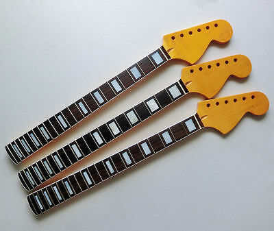 Electric Guitar Neck yellow Replacement Maple Wood 22 Fret Big head parts