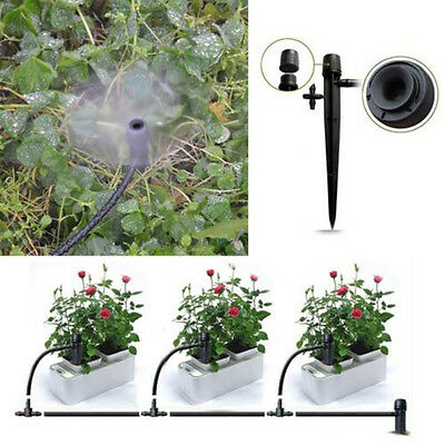 New 50Pcs Adjustable Water Flow Irrigation Drippers On Stake Emitter Drip System