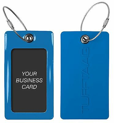 TUFFTAAG Luggage Tag Set For Business Cards – Customized PVC Suitcase Labels