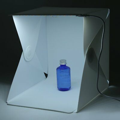Product Photography Lighting 24cm Tent Kit Cube Photo Studio Soft Box Shooting @
