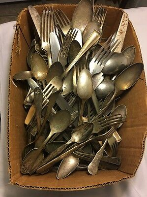 HUGE Lot Of Antique Silverware Mixed Makers And Brands VTG Must See HTF 100+PCS