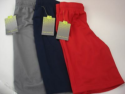 Tek Gear Big Boys Shorts Red Gray Navy  Size S 8 10 M 10 12 L 14 16 New