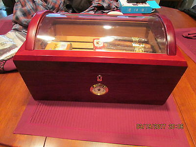 """1915 Thompson Humidor,tray In Top, Estate Find Very Nice, Sz. 16 X 10X 81/2"""""""