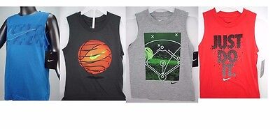 Nike Dri Fit Boys Tank Top Shirt Sleeveless Cotton Choose Size & Color NWT