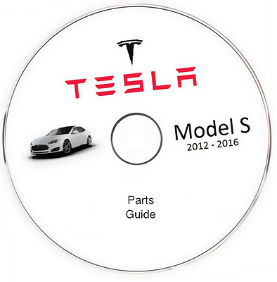 Tesla S model Parts Guide Catalog supplement for a Workshop Manual 2012-2016