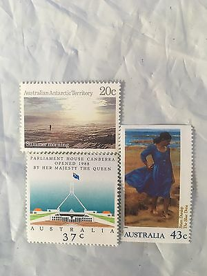 300 Australian MUH $1.00 (3 stamps) Postage Stamp - Full Gum Mint - Face $300