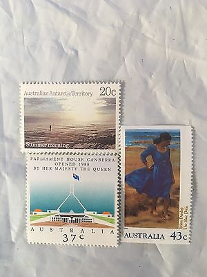 300 Australian MUH $1.10 (3 stamps) Postage Stamp - Full Gum Mint - Face $330