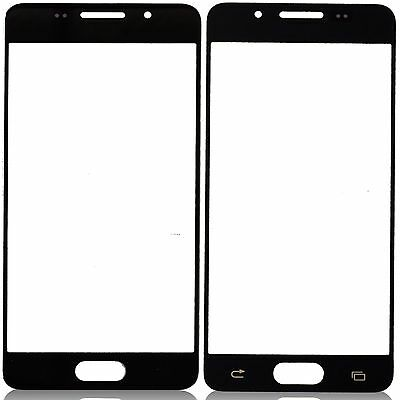 Black Front Outer Glass Lens Fix Parts For Samsung Galaxy A5 2016 A510 5.2''