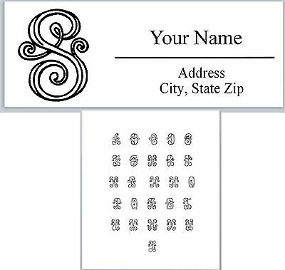 Personalized Address Labels Monogram Buy 3 get 1 free (ac615)