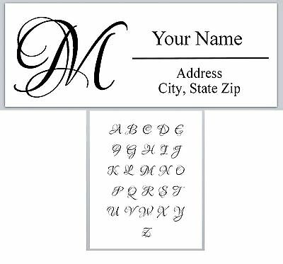 Personalized Address Labels Monogram Buy 3 get 1 free (ac613)
