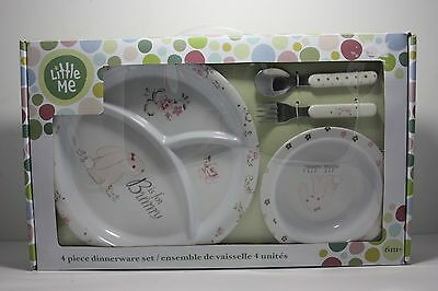 Little Me Dinnerware 4 Piece Easter Bunny Plates Dishes Dinner Baby Shower