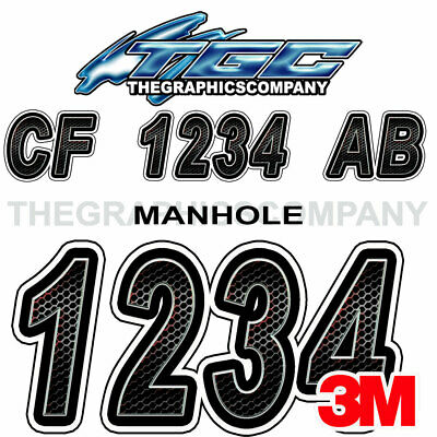 MANHOLE Custom Boat Registration Numbers Decals Vinyl Lettering Stickers USCG