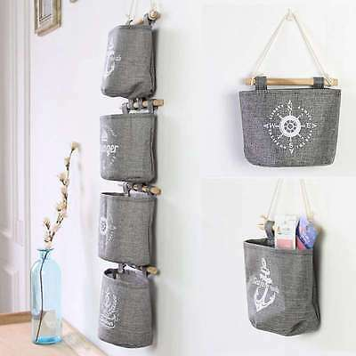 Retro Wall Toiletry Holder Storage Hanging Organizer Closet Bag Multifuction