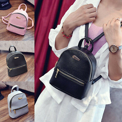 Fashion Women Girls Leather Backpacks Mini Travel Rucksack Handbags School Bag