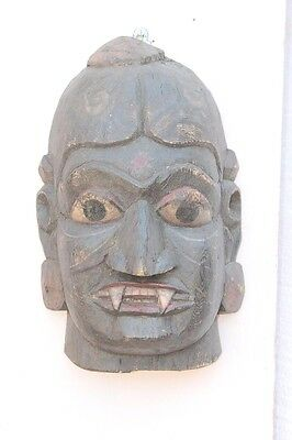 1900's Old Vintage Handcrafted Wooden Mask Home Wall Decor Collectible PE-46