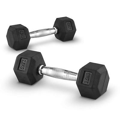 2X 2.5 Kg Dumbbell Weights Set Home Gym Cross-Training Body Muscle  Excercise