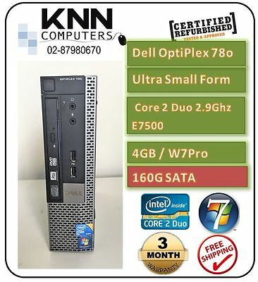 Dell Optiplex 780 USFF E7500 4GDDR3 , 160G HDD , W7Pro