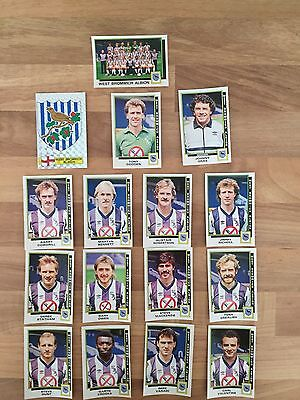 PANINI 1986 West Bromwich Albion FC - Full Set of Stickers
