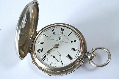 Full Hunter Silver Pocket Watch by John Forrest - Good Working Condition