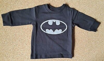 NEW Boy Black Batman T-Shirt by Next - 6-9 Months